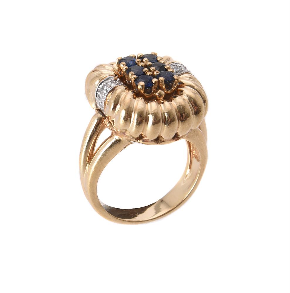 A sapphire and diamond dress ring by Dankner