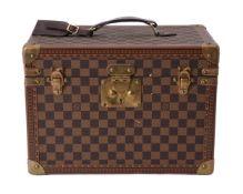 Louis Vuitton, a demier canvas hard travel case
