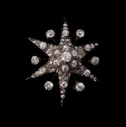 A late Victorian diamond star brooch/pendant