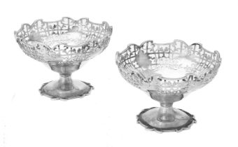 A pair of silver sundae dishes by Viner's Ltd.