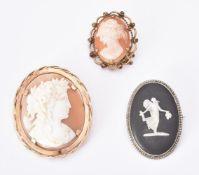 A shell cameo brooch