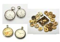 Unsigned,Silver open face pocket watch