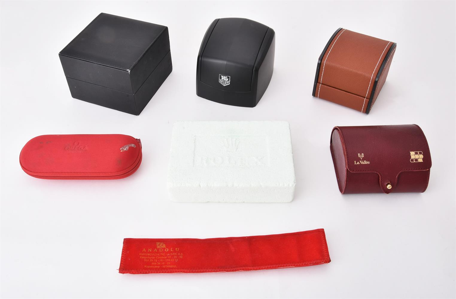 A collection of watch boxes