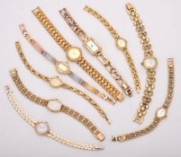 Y Nine lady's gold plated watches