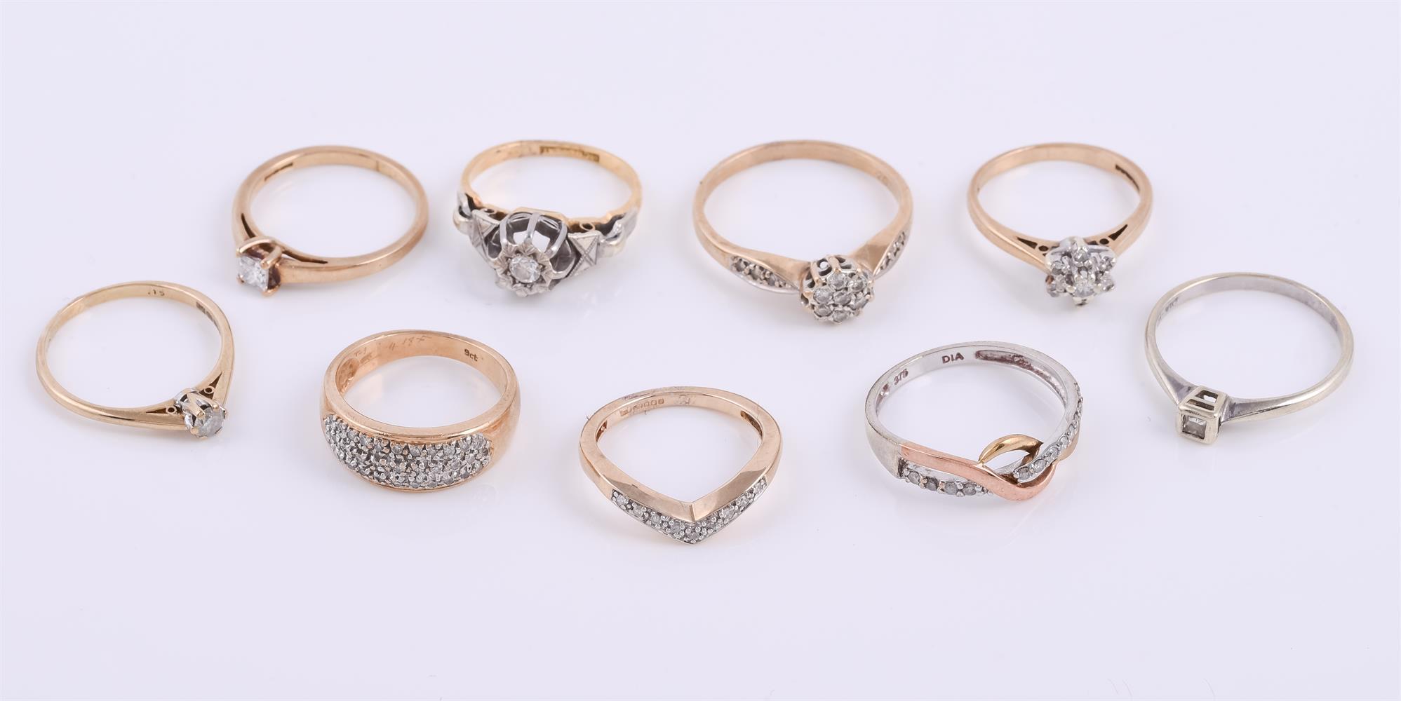 An illusion set diamond ring - Image 2 of 2