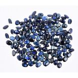 † A packet of unmounted sapphires