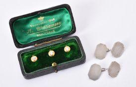 Three late Victorian diamond dress studs
