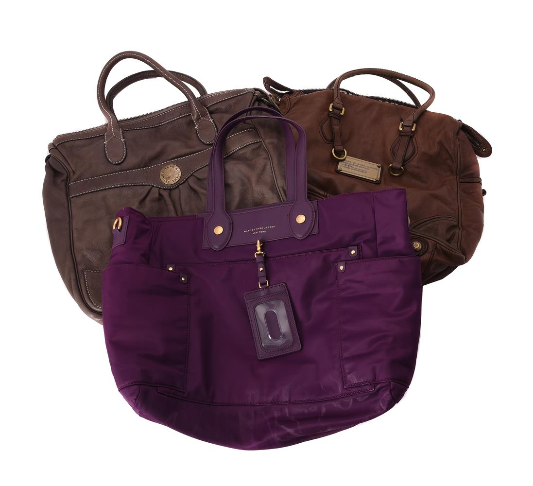 Marc Jacobs, a purple baby changing bag