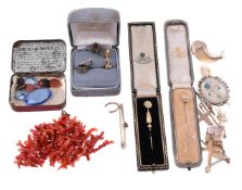Y A collection of antique and later jewellery