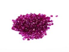 † A parcel of unmounted step cut rubies