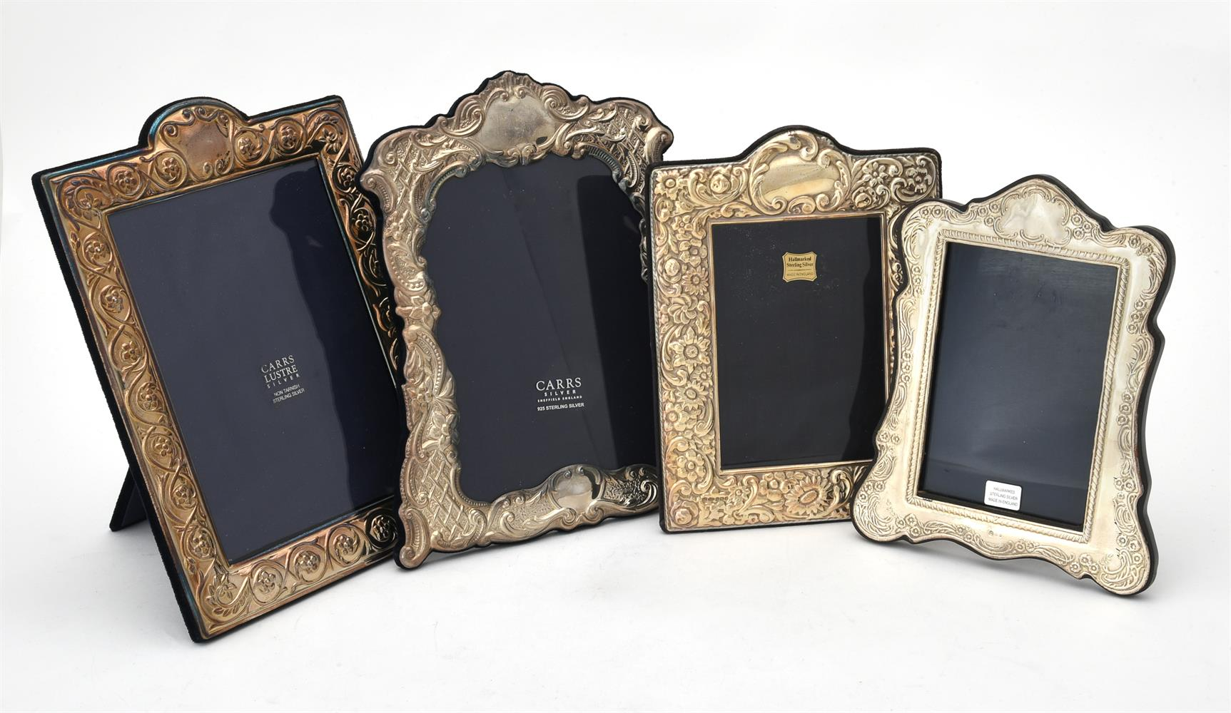 A silver mounted shaped rectangular photo frame by Carr's of Sheffield Ltd.