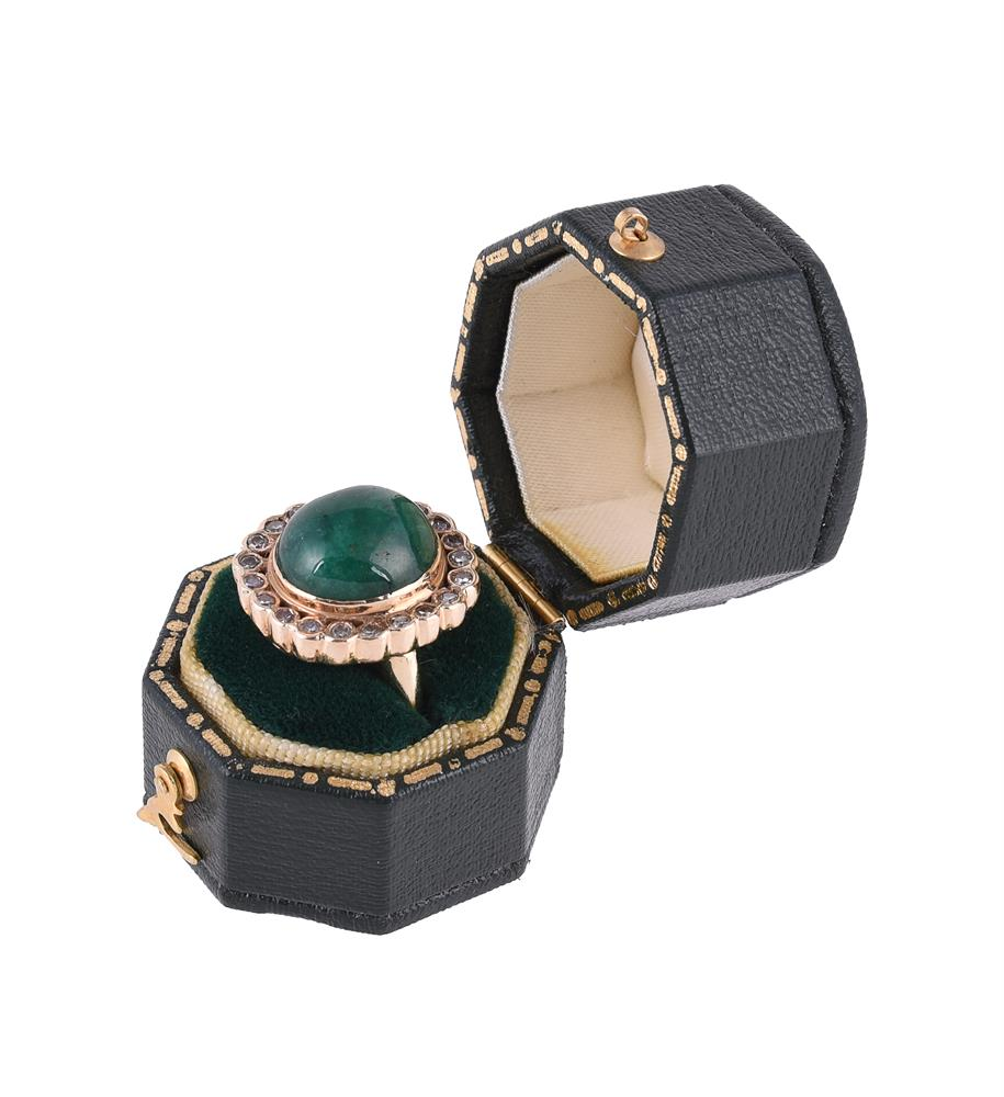 An emerald and diamond cluster dress ring - Image 2 of 2