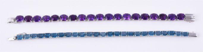 An amethyst line bracelet