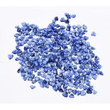† A packet of unmounted heart cut sapphires