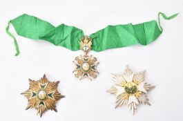 The star and neck badge of the Military & Hospitaller Order of St. Lazarus of Jerusalem