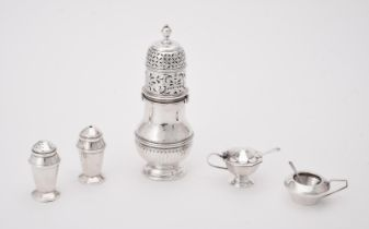 A silver baluster caster
