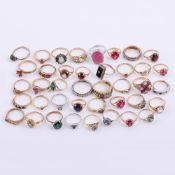 A collection of gold coloured rings