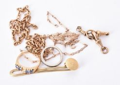 A collection of damaged jewellery