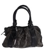 Burberry, a black leather and rockstud handbag