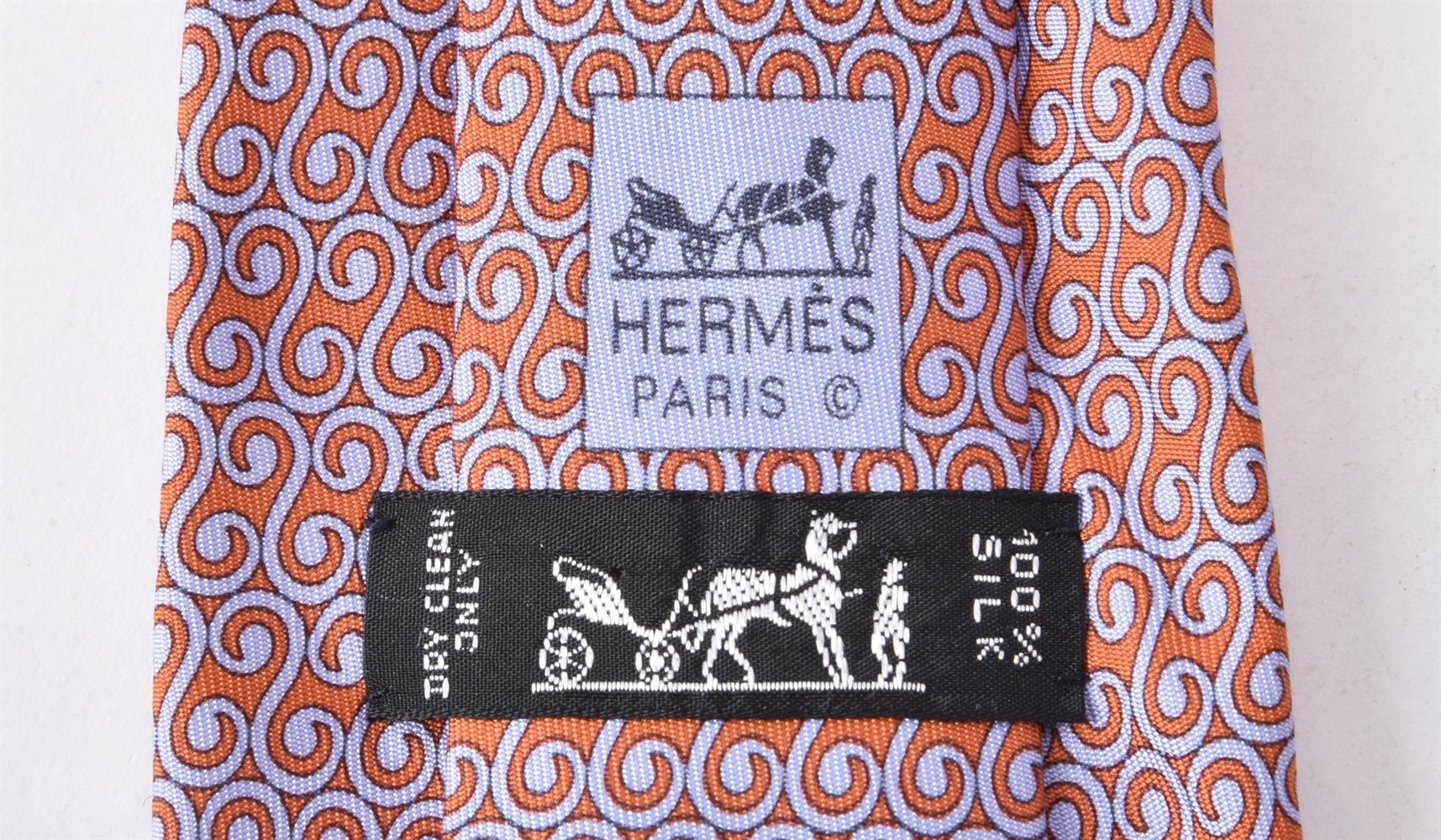 Hermes, three silk ties - Image 2 of 2