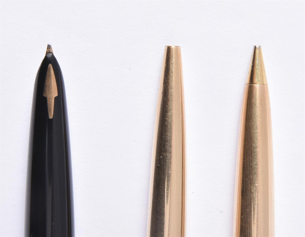 Parker, 61 Custom Insignia, a gold plated fountain pen, ballpoint pen and propelling pencil - Image 2 of 3