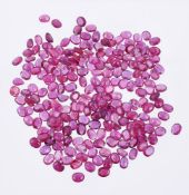 † A packet of oval cut rubies