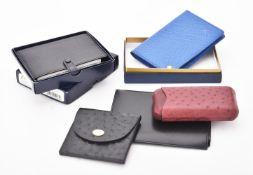 Asprey, a black leather notepad