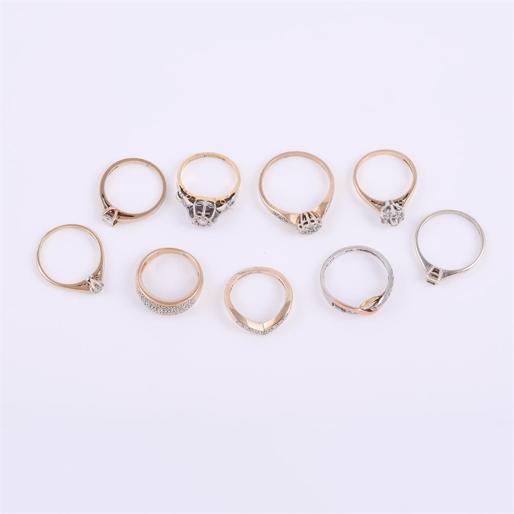 An illusion set diamond ring