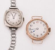 Unsigned, Lady's 9 carat gold wrist watch