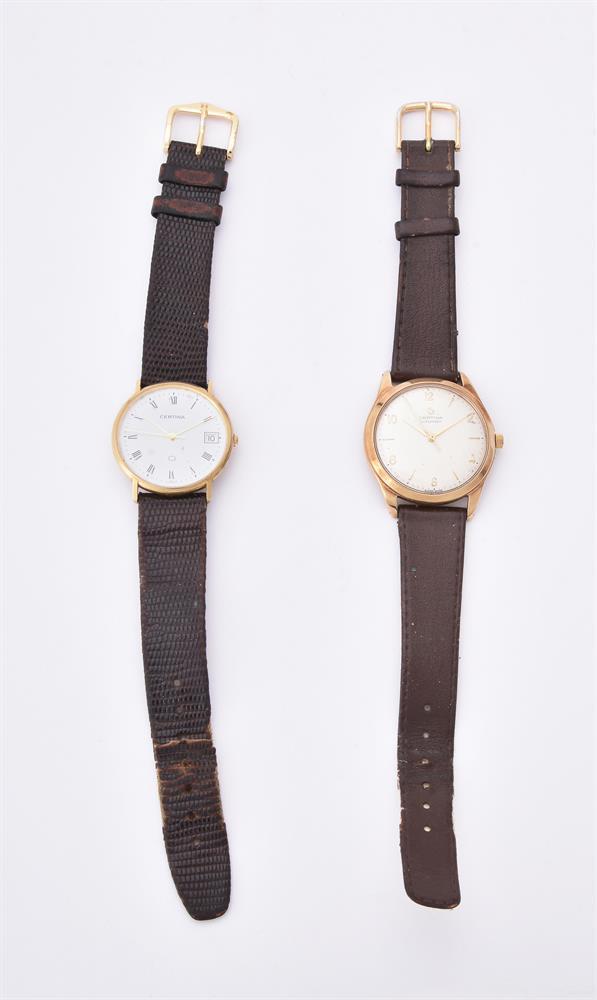 Certina, 9 carat gold wrist watch