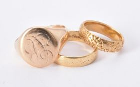 A mid Victorian 18 carat gold band ring