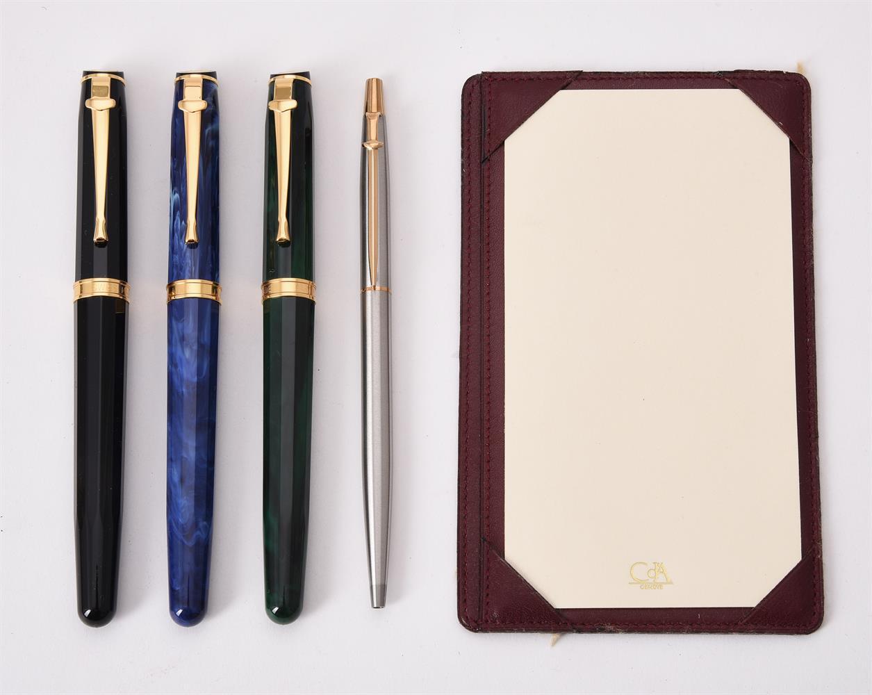 Caran d'Ache, three rollerball pens