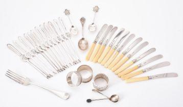 Y Twelve silver butter knives by Allen & Darwin