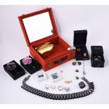 A collection of dress jewellery and costume jewellery