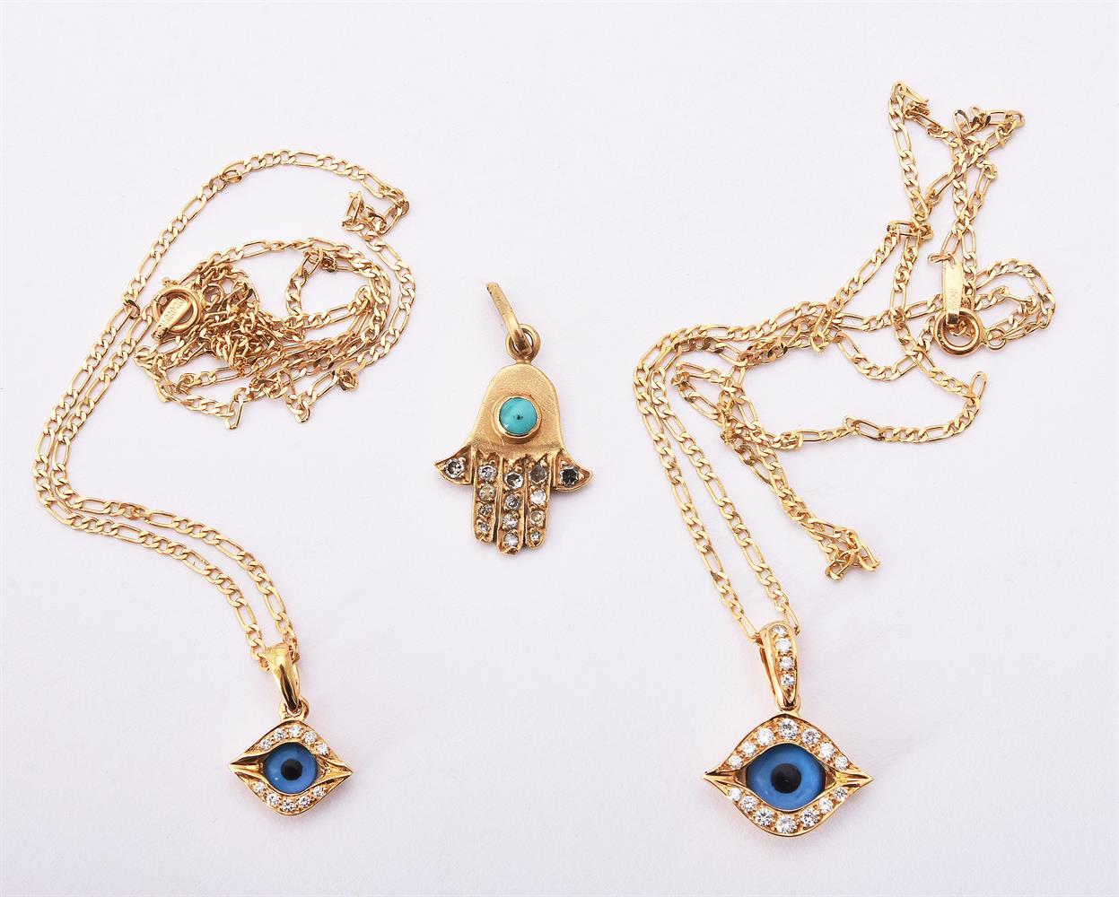 Two eye amulet pendants by Mouawad - Image 2 of 2