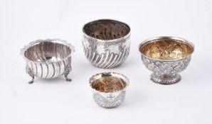 A Victorian silver circular sugar bowl by Charles Stuart Harries