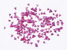 † A parcel of triangular cut rubies