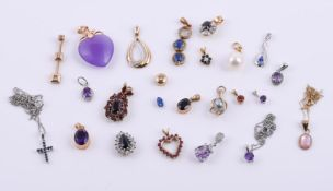 A collection of various pendants