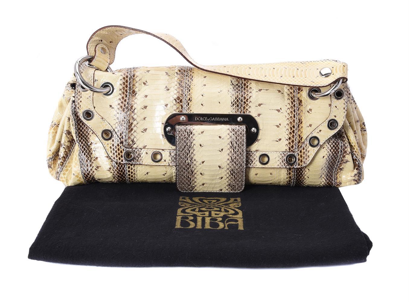 Y Dolce & Gabbana, a python skin handbag - Image 3 of 3