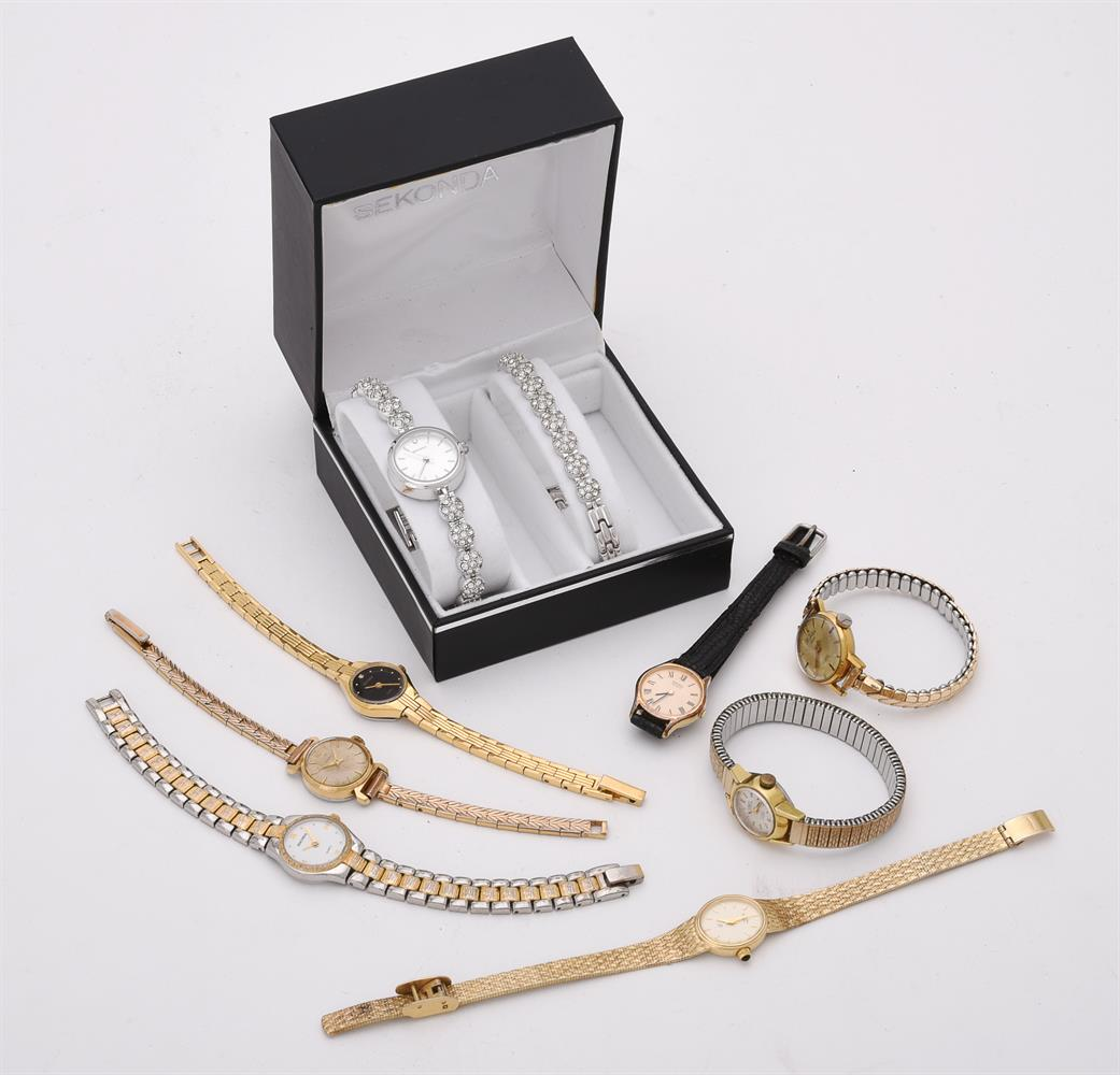 Y Nine lady's gold plated watches - Image 2 of 2