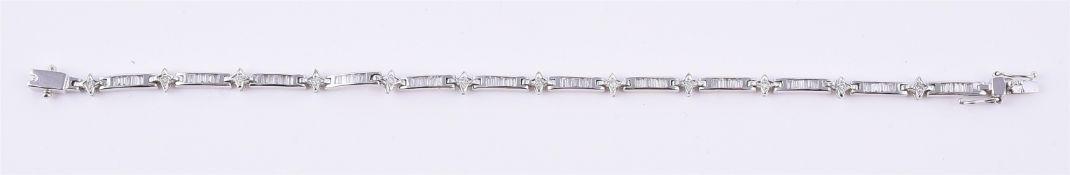An 18 carat gold diamond bracelet