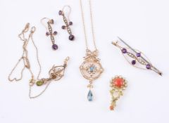 Y A collection of jewellery
