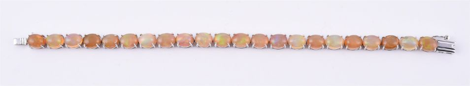An opal line bracelet
