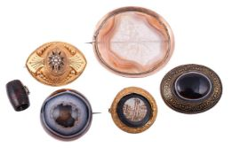 A collection of Victorian brooches