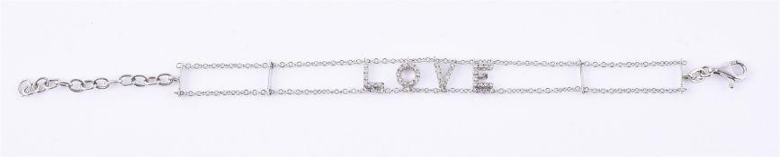 An 18 carat gold diamond Love bracelet