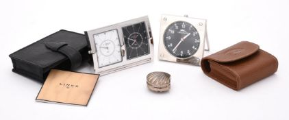 Links of London, Greenwich Collection, a stainless steel desk alarm clock