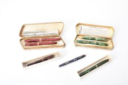Conway Stewart, a collection of 1950s fountain pens