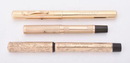 A 9 carat gold fountain pen