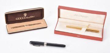 S. T. Dupont, a silver gilt coloured fountain pen