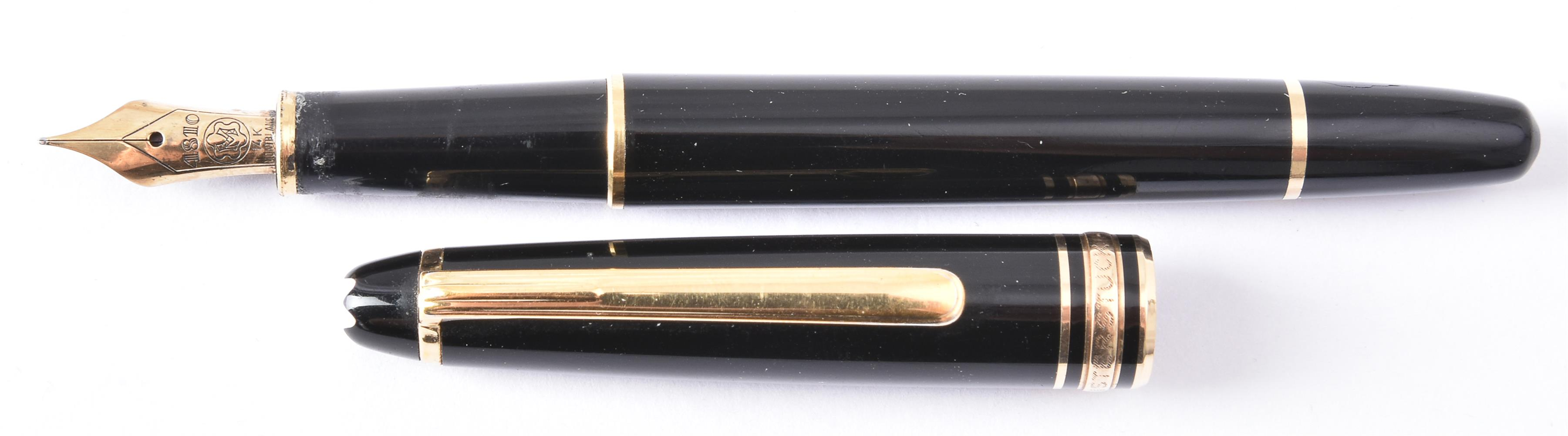 Montblanc, Meisterstuck, a black fountain pen - Image 2 of 3